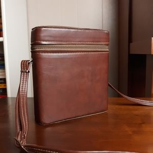 Vintage vegan leather rectangular crossbody